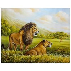 "Vera V. Goncharenko- Original Oil on Canvas ""Father & Son"""