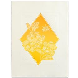 "Hari Hockey, ""Dream Flowers"" Limited Edition Embossed Lithograph, Numbered and Hand Signed by the Ar"