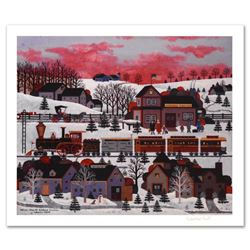"""Whistle Stop at Ashfield Junction"" Limited Edition Lithograph by Jane Wooster Scott, Numbered and H"