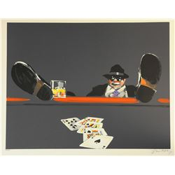 "Waldemar Swierzy (1931-2013)- Hand Pulled Original Lithograph ""Royal Flush"""