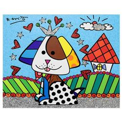 "Romero Britto ""To Jenna & Nick's Home"" Hand Signed Limited Edition Giclee on Canvas; Authenticated"
