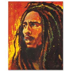 """Bob Marley"" Limited Edition Giclee on Canvas by Stephen Fishwick, Numbered and Signed. This piece c"