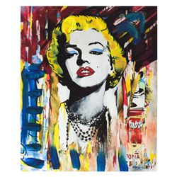 Nastya Rovenskaya- Mixed Media  Marilyn Monroe II