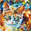 """Image 2 : Leonid Afremov (1955-2019) """"Bright Eyes"""" Limited Edition Giclee on Canvas, Numbered and Signed. This"""