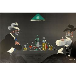 Waldemar Swierzy (1931-2013)- Hand Pulled Original Lithograph  Play for Keeps
