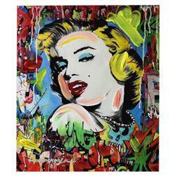 Nastya Rovenskaya- Mixed Media  Marilyn Monroe I