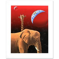 Our Home Too I, Elephants  Limited Edition Serigraph by William Schimmel, Numbered and Hand Signed