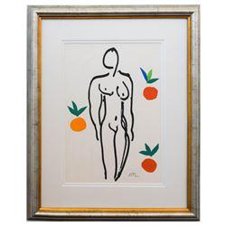 """Henri Matisse- Lithograph """"Verve - Nu aux oranges"""""""