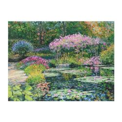 "Howard Behrens (1933-2014), ""Giverny Lily Pond"" Limited Edition on Canvas, Numbered and Signed with"