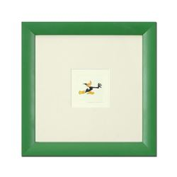 """Daffy Duck (Running)"" Framed Limited Edition Etching with Hand-Tinted Color and Numbered."