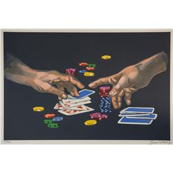"Waldemar Swierzy (1931-2013)- Hand Pulled Original Lithograph ""First Gamble"""