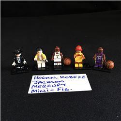 LEGO MINIFIGURES (HULK HOGAN, KOBE X 2, MICHAEL JACKSON, FREDDY MERCURY)