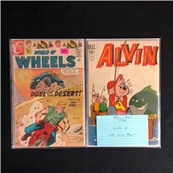 VINTAGE COMIC BOOK LOT (ALVIN #24/ WORLD OF WHEELS #21)