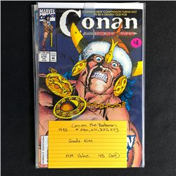 CONAN THE BARBARIAN COMIC BOOK LOT #271, 272, 273, 274 (MARVEL COMICS) 1993