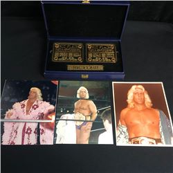 WWE Authentic Ric Flair Replica Championship Title Belt Name Plates