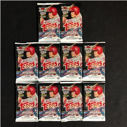 10 UNOPENED TOPPS 2019 BASEBALL CARD PACKS