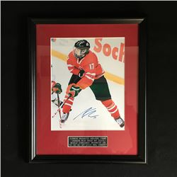 CONNER MCDAVID SIGNED AND FRAMED WORLD JUNIORS 8 X 10 (NO COA)