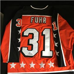GRANT FUHR SIGNED CAMPBELL ALL STAR CUSTOM JERSEY  (JSA COA)