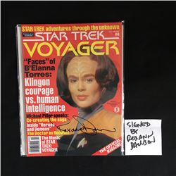 ROXANA DAWSON SIGNED STAR TREK VOYOGER MAGAZINE