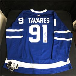 JOHN TAVARES SIGNED ADIDAS MAPLE LEAFS CAPTAIN JERSEY (JUST IN CASE COA)