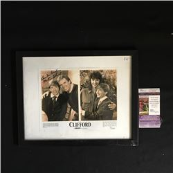 MARTIN SHORT AND CHARLES GRODIN SIGNED CLIFFORD PRESS RELEASE PHOTO JSA COA