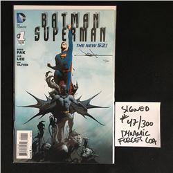 LTD EDITION JAY LEE SIGNED BATMAN SUPERMAN NO.1 47/300
