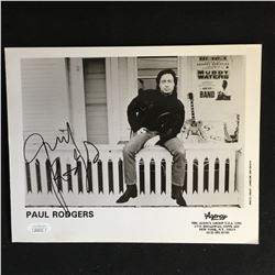 PAUL RODGERS SIGNED 8 X 10 PHOTO (JSA COA)