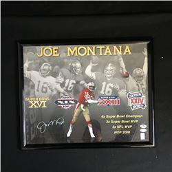 JOE MONTANA SIGNED 16 X 20 COLLAGE WITH FRAME (PSA, JSA, MONTANA COA)