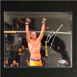 NATE DIAZ SIGNED 8 X 10 MMA PHOTO (PSA COA)