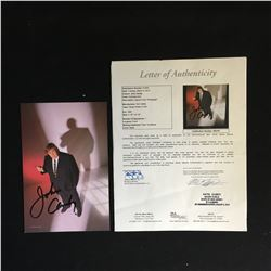 JOHN CANDY SIGNED 5 1/2 X 8 1/2 POSED IN SUIT COLOR PHOTO (JSA COA)