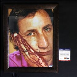 PETE TOWNSHEND SIGNED 11 X 14 WITH FRAME PSA COA