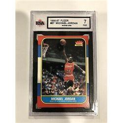 1986-87 Fleer #57 Michael Jordan Rookie Card (7 NM)