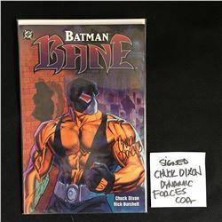 LTD EDITION CHUCK DIXON SIGNED BANE NO.1 COMIC 182/5000