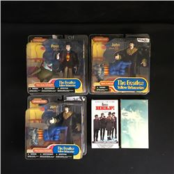 MCFARLANE BEATLE FIGURES LOT WITH VHS