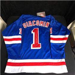 ED GIACOMIN SIGNED NEW YORK RANGERS JERSEY LEAF COA
