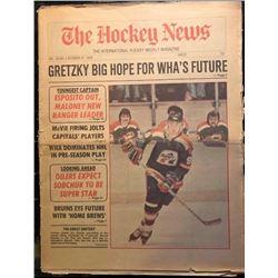 1978 THE HOCKEY NEWSPAPER FEATURING PRE ROOKIE WAYNE GRETZKY