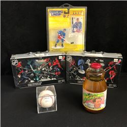 MULTI SIGNED SPORTS COLLECTOR LOT (BALL,LAFLEUR SIGNED AND MORE)