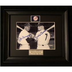 JOE DIMAGGIO AND MICKEY MNTLE SIGNED 8 X 10 FRAME DISPLAY ( PHOTO IS 5 X 7) WITH COA HOLO)
