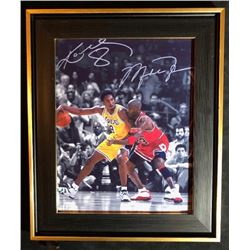KOBE AND MICHEAL 11 X 14 FRAMED PHOTO (NOT SIGNED)