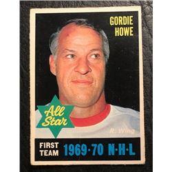 1970 OPC ALL STAR GORDIE HOWE HOCKEY CARD