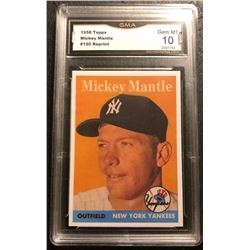 1958 TOPPS MICKEY MANTLE REPRINT GMA 10