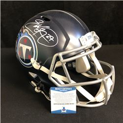 Eddie George Signed Titans Full-Size Speed Helmet (Beckett COA)