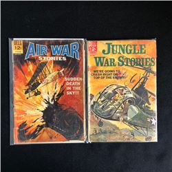 DELL SILVER AGE COMIC BOOK LOT AIR WAR AND JUNGLE WAR STORIES
