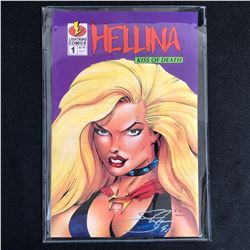 HELLINA: KISS OF DEATH #1 (LIGHTNING COMICS) SIGNED by STEPEN ZYSKOWSKI