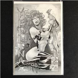 HELLINA: HELL'S ANGEL #2 PLATINUM NUDE EDITION (LIGHTNING COMICS)