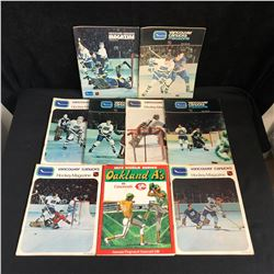 VINTAGE VANCOUVER CANUCK PROGRAMS LOT