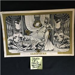 11 X 14 SIGNED AND NUMBERED CLEOPATRA PRINT FRANK BRUNNER