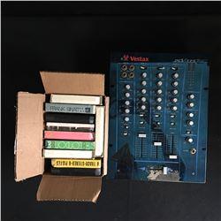 VESTAX PCV-175 Professional DJ Mixer  w/ 8-Track Cassettes
