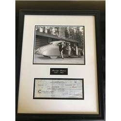 THE ULTIMATE PC FOR MEMORABILIA! MARILYN MUNROE SIGNED CUSTOM FRAMED DISPLAY PSA LOA