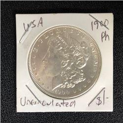 1900 USA MORGAN SILVER DOLLAR (PHILADELPHIA MINTED) UNCIRCULATED